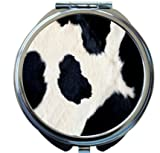Rikki Knight Cow Hide Design Round Compact Mirror