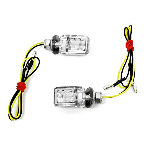 Krator TL-GJ-047-2 Turn Signals Lights (Custom Chopper Motorcycle Amber Blinkers Flashers LEDs) by Krator
