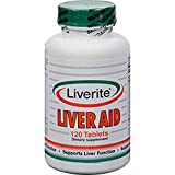 Liverite Liver Aid, Supports Liver Function and Cleanses the Liver, 120 Tablets
