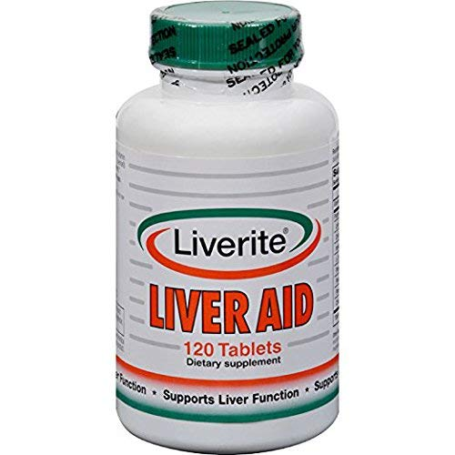 Liverite Liver Aid 120 Tablets, Liver Support, Liver Cleanse, Liver Care, Liver Function, Energy.