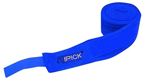 ATIPICK–Paar Boxbandagen Baumwolle 2,5cmx5m. Blau