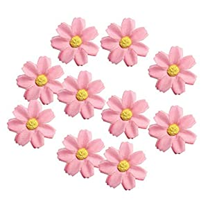 KODORIA 100pcs Artificial Flower Heads Silk Daisy Flower Heads for DIY Baby Shower, Home Party Wedding Favor Decoration DIY Craft Fake Flowers - Soft Red 68