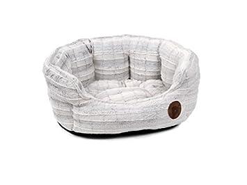 Petface Peluche Oval Perro/Perrito de la Cama, pequeño, Color Blanco: Amazon.es: Productos para mascotas