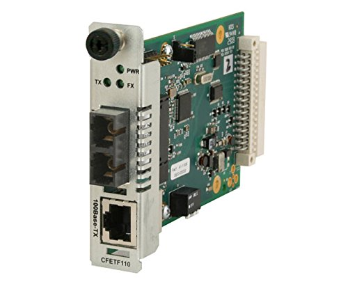 Transition Point System Slide-In-Module Fast Ethernet Class A Media Converter - T - CFETF1013-110 by TRNSTON NW