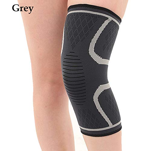 Black Sale Friday Deals Cyber Deals Monday Deals 2018-Breathable Warmth Basketball Football Sports Safety Volleyball Knee Pads Training Elastic Knee for Fitness,Cycling,Running,Volleyball(M, Grey)