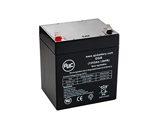 HKbil 6FM5.0 12V 5Ah Sealed Lead Acid Battery - This is an AJC Brand Replacement