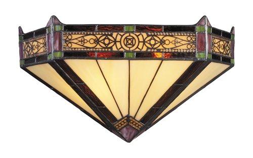 Aged Landmark Bronze Lighting - Elk 08030-Ab Filigree 2-Light Sconce, 7-1/2-Inch, Aged Bronze