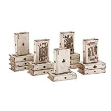 Set of 16 Vintage Playing Card Decorative Storage Book Boxes 1.25""