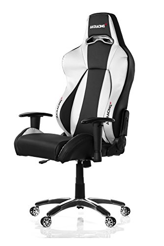 41rXRMfjkgL - AKRACING AK-7002 Ergonomic Series Executive Racing Style Computer Chair Gaming Chair Office Chair eSport with Lumbar Support and Headrest Pillow Included (Black/Silver)