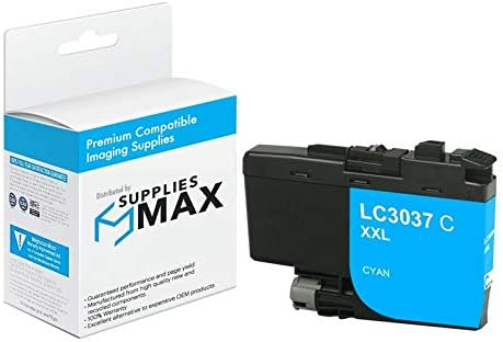 SuppliesMAX Compatible Replacement for Brother HL-6000//MFC-J5845//J5945//J6545//J6945DW Cyan Super High Yield Inkjet 1500 Page Yield LC-3237XLC