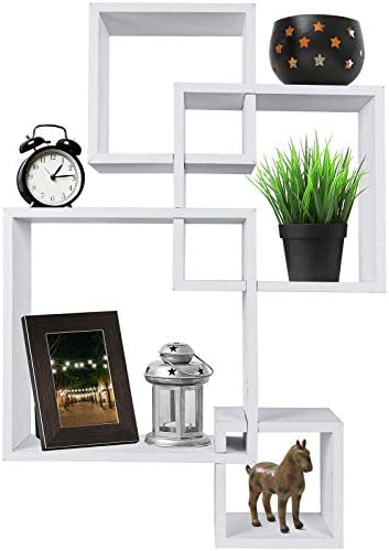 Greenco Decorative Intersecting Floating Shelves product image