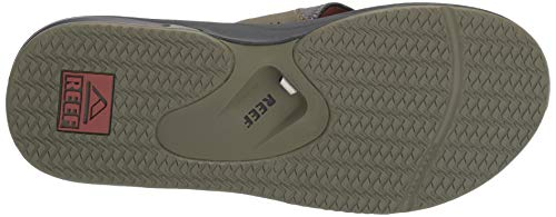 Reef Men's Fanning Sandal, Olive/Rust, 150 M US by Reef (Image #3)
