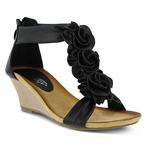 f7c74eef834 PATRIZIA Women's Harlequin Wedge Sandal Black