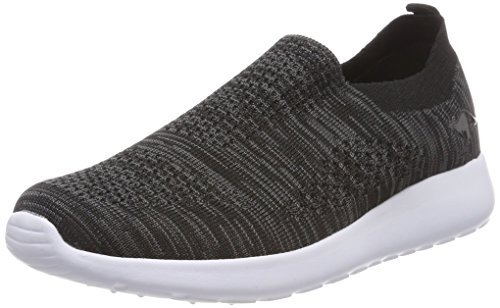 KangaROOS Unisex-Erwachsene K-Rick Slip on Sneaker Schwarz (Jet Black)