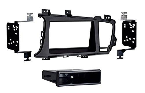 (Metra 99-7345B Kia Optima 2011-UP Single/Double DIN Dash Fitment Kit with Pocket)