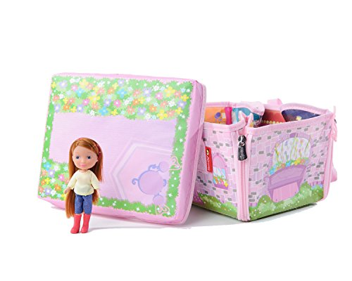 Everyday Princess ZipBin 50 Doll Mini Mansion w/ 1