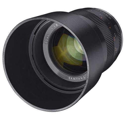 SAMYANG 85mm f/1.8 Manual Focus Lens for Sony E Mount Nex Series Cameras - Black