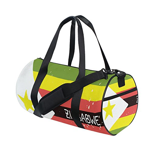 Distressed Zimbabwe Flag Travel Duffel Shoulder Bag ,Sports Gym Fitness Bags by super3Dprinted