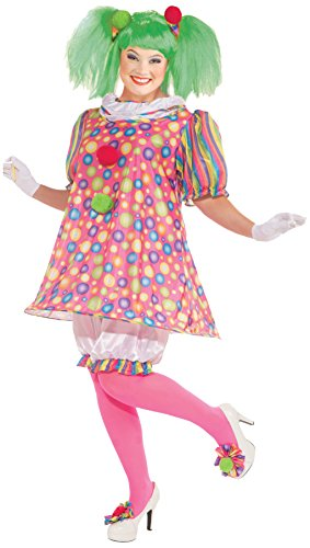 Plus Size Clown Halloween Costumes (Forum Novelties Women's Tickles Clown Plus Size Costume, Multicolor,)