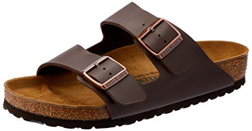 Birkenstock womens Arizona in dark brown from Birko-Flor Sandals 39.0 EU W]()