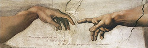 The Creation of Adam by Bunoroti Michaelangelo Double Sided Laminate, 36 x 12 inches