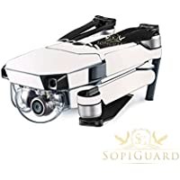 SopiGuard Matte Pearl White Metallic Precision Edge-to-Edge Coverage Vinyl Skin Controller Battery Wrap for DJI Mavic Pro