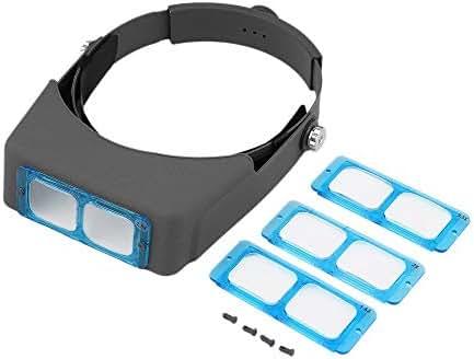UnitedCAheart Helmet Type Magnifying Glass Double Lens Head Wearing Magnifier Precise Device Enhancing Eyesight Improving Efficiency Head-Wearing Magnifier
