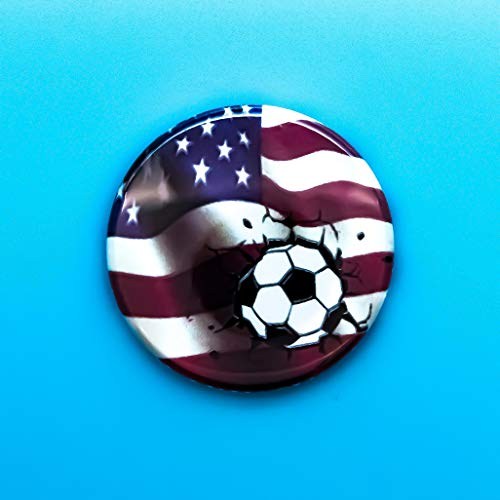 (United States Soccer Pin Back Button)