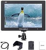 "FEELWORLD T7 7"" Camera Field Monitor 4K HDMI Full HD 1920x1200 LCD 16:10 IPS Screen for DSLR Rig Sony Canon Nikon…"