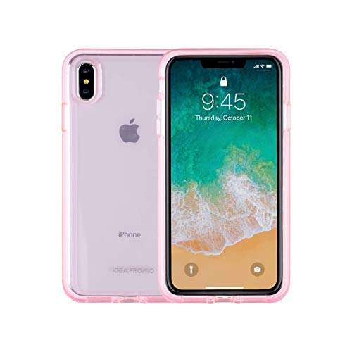 iPhone Xs Max Case, Hard ABS Plastic Back Plus Soft TPU Bumper, Heavy Duty Full Body Shockproof Drop Protection, Supper Beautiful Sleek Appearance and Feel, for iPhone 6.5 inch Cover, Pink Clear