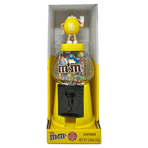 M & M CANDY DISPENSER FOR ALL CANDY LOVERS - Yellow