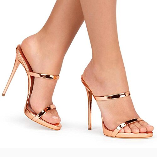 Pink Comfortable Yellow Pink Women'S Heels High YC L Sandals Dance Simple Leather and Rf7qw0
