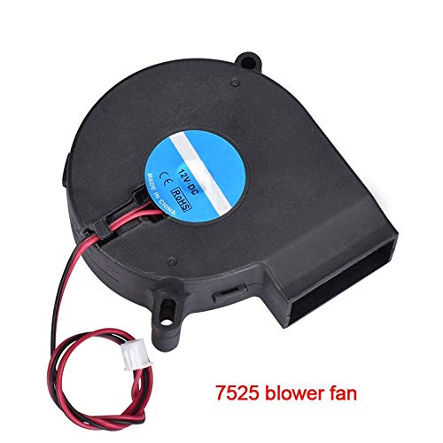 Top Quality 75x75x25mm 7525 12V DC brushless Electric Turbo Fan 7525 Blower Fan 3D0013 for 3D Printer Parts by GIMAX