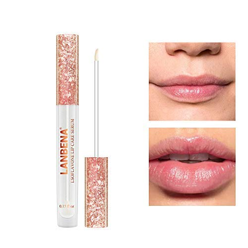 Lip essence All-Natural Lip Plumper Gloss Without Lip Fillers Lips Care Serum Lips Moisturizing Plumping Reduce Fine Lines,Repair Necrotic Skin (white)