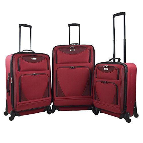 3 Piece Expandable Luggage Set Includes 28