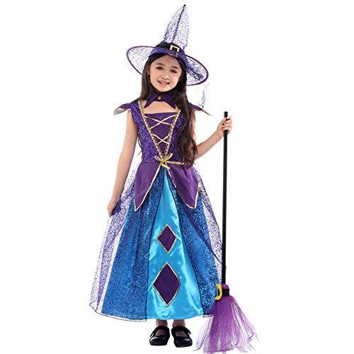 WSJKL Halloween Costumes Little Witch Suit Purple   for Kids Girl ()