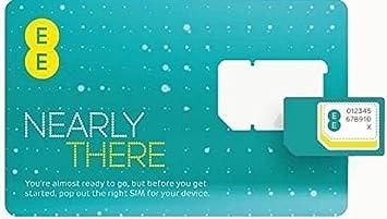 EE 4 G Pay as you go SIM tarjeta (Micro, Nano, estándar ...