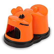 Horsen Knife Sharpener with Suction Cup ,Coarse and Fine Sharpening System