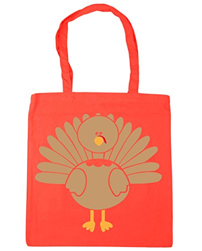 HippoWarehouse Turquía bolsa de la compra bolsa de playa 42cm x38cm, 10litros Coral