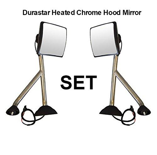 International Durastar Truck 4300 4400 Chrome Hood Mirror Heated Set Pair 2008 +