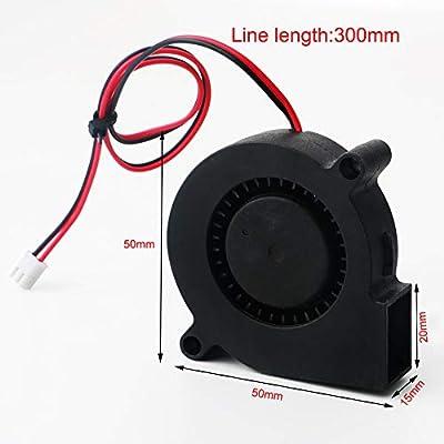 RUNCCI-YUN 3 Piezas Ventilador Turbina 12V 5015 50x50x15 mm - Ventilador de Enfriamiento DC 12V para Impresora 3D ...
