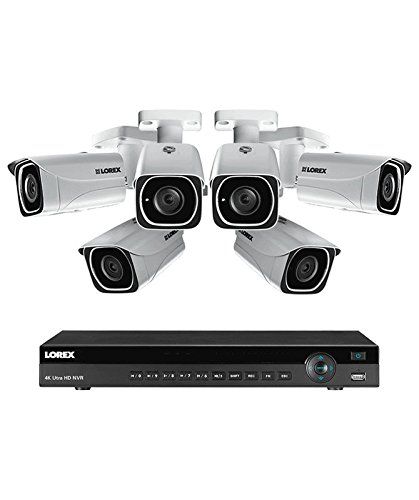 Lorex 8 channel NR9082 4K home security system with 6 8MP 4K LNB8111B Bullet Cameras