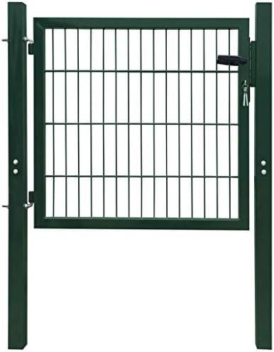CASTLOVE 2D Zauntor (Einzeltor) grün 106 x 130 cm