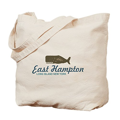 (CafePress East Hampton - New York. Natural Canvas Tote Bag, Cloth Shopping Bag)
