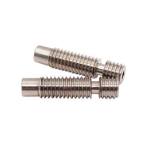 WINSINN Titanium alloy TC4 V5 V6 Heatbreak Short-range All metal Heat Break Length 25.1mm M6 Thread - 3D Printer Extruder Hotend Throat For E3D Nozzle 1.75mm Filament (Pack of 2pcs) by WINSINN