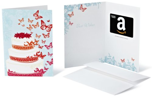 Amazon.com $500 Gift Card in a Greeting Card (Wedding Design)