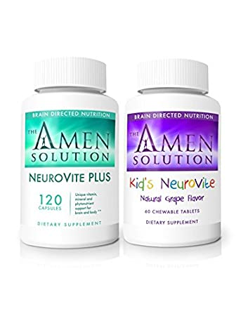Amazon.com: El Dr. Amen Kids grapevite y neurovite Plus ...