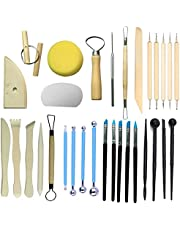 Polymer Clay Tools, Pottery Tools with a Storage Bag, Sculpting Tools Set for Pottery Sculpey Clay, Air Dry Modeling Clay, Carving Tools for Beginners, Students, Kids, Potters