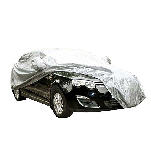 logei® General Motors Couverture Voiture Couverture Anti poussière Etanche Anti soleil Anti-UV Couverture universelle pour Voiture, 450 x 175 x 150cm, Argent