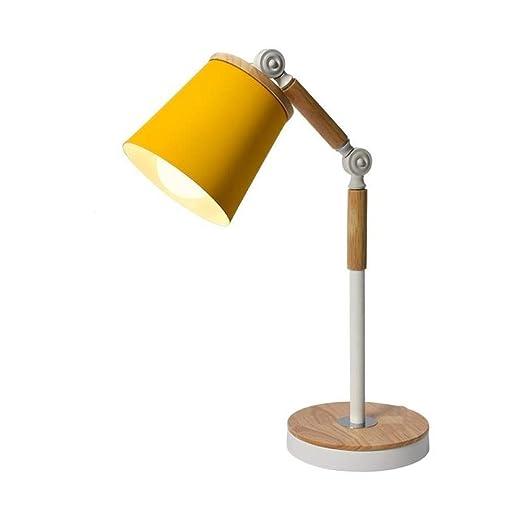 MLSH Lámpara De Mesa Ajustable Lámpara De Mesa Moderna De Madera ...